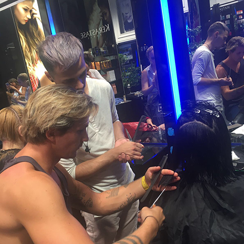 Training mit unseren Friseuren